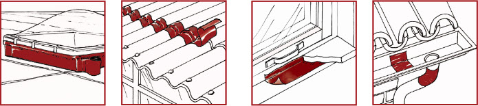 ứng dụng băng keo chống dột mái tôn ekobit